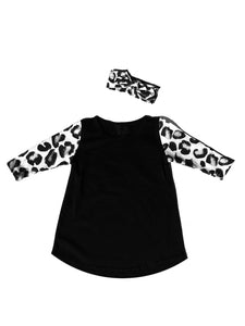 Long sleeve Leopard dress