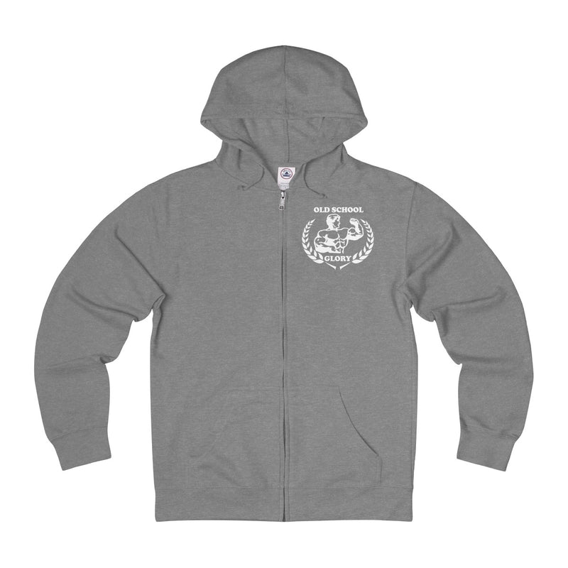 Heather Grey Full-zip Hoodie
