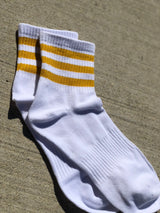 Gold Striped Retro Socks