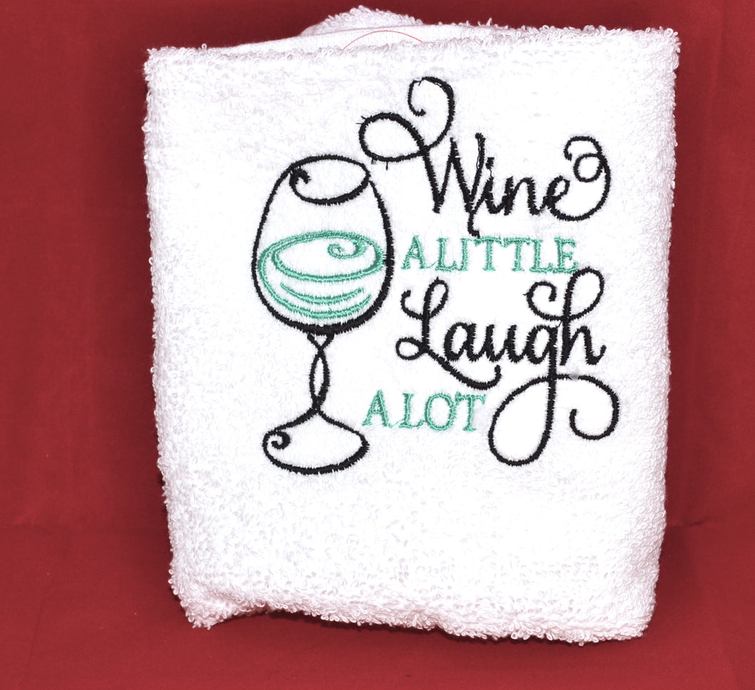 Wine A Little Hand Towel