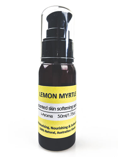Pure Australian Lemon Myrtle Skin Serum for oily and acne prone skin and suitable for all skin types from i-Aroma Tasmania