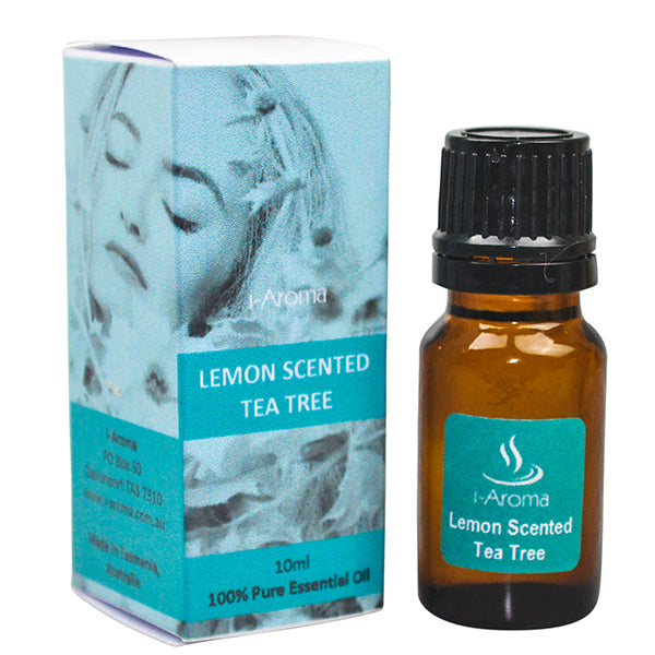Pure Australian Lemon Scented Tea Tree Oil - strong and fresh scent. Great for disinfecting the air, removing bad odours