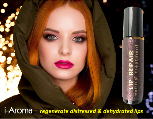 a 100% natural treatment for dry, chapped and peeling lips, i-Aroma
