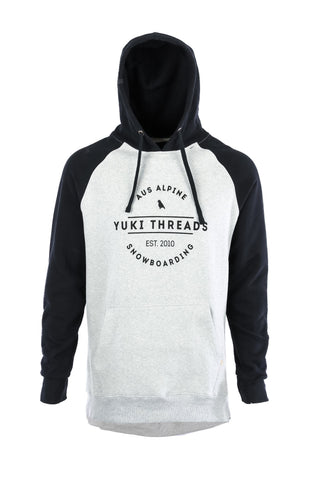 DWR Retro Hoodie Black/Heather Grey - Yuki Threads
