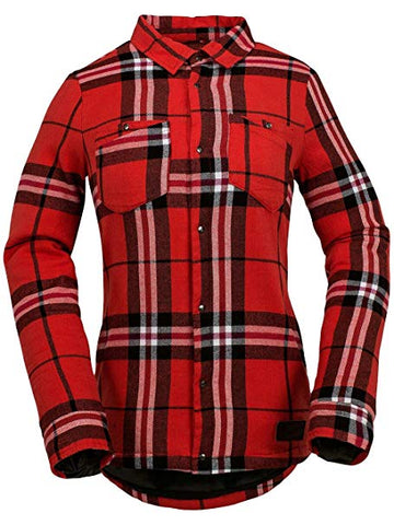 2017 Volcom - Women's Inyoh Insulated Flannel Shirt