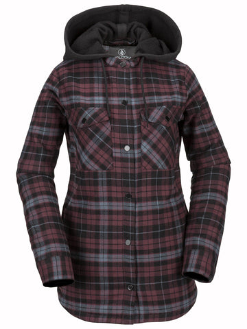 2019 Volcom - Women's Hooded Flannel Jacket