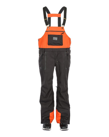 Tundra Bib & Brace Charcoal / Burnt Orange - Yuki Threads