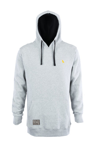 Old Mate Hoodie Reg Fit Heather Grey - Yuki Threads