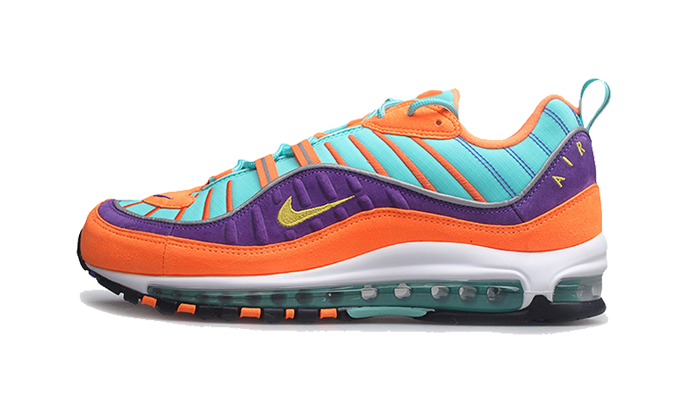 new styles 802d8 6c1e0 nike air max 98 qs cone tour yellow hyper grape