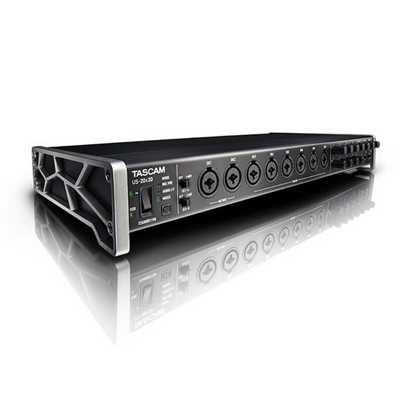 Interfase de Audio USB, Tascam US-20x20 - Jupitronic Tienda en Linea
