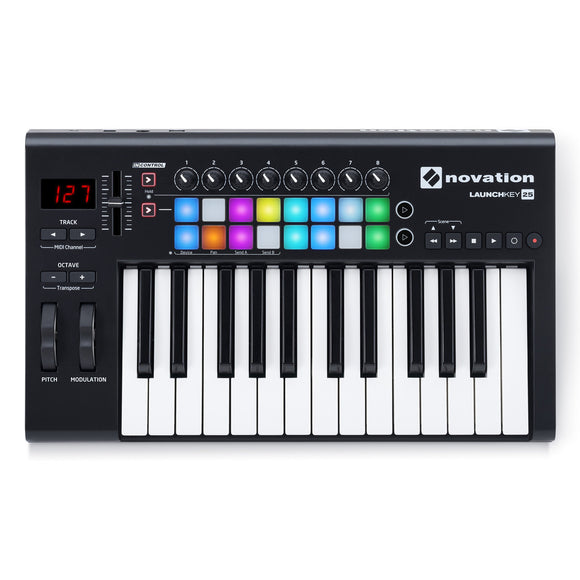 Teclado Controlador USB, Launchkey 25 Novation