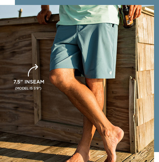 Men's Hybrid Shorts - Delta Blue