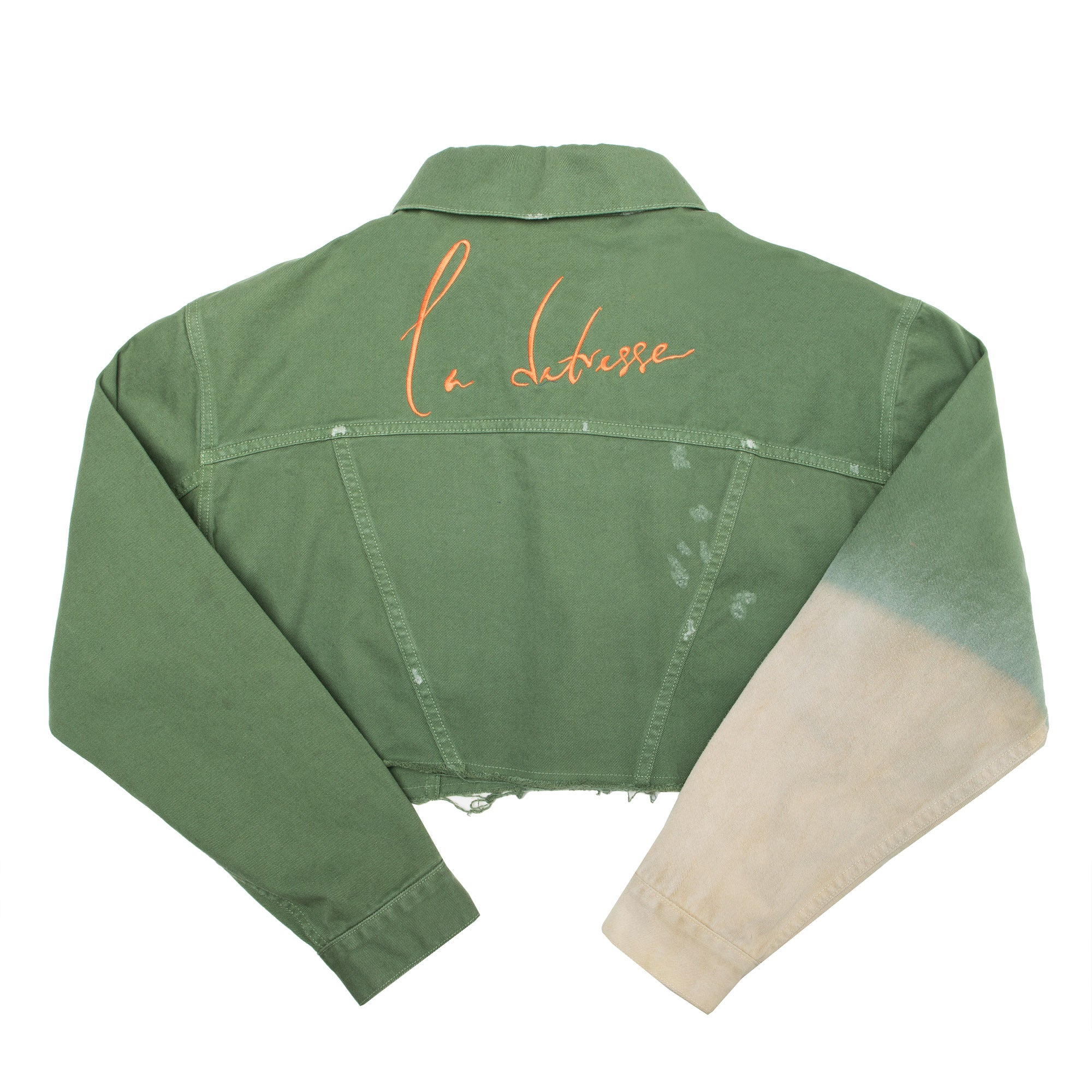The Green Sleeve Embroidery Crop
