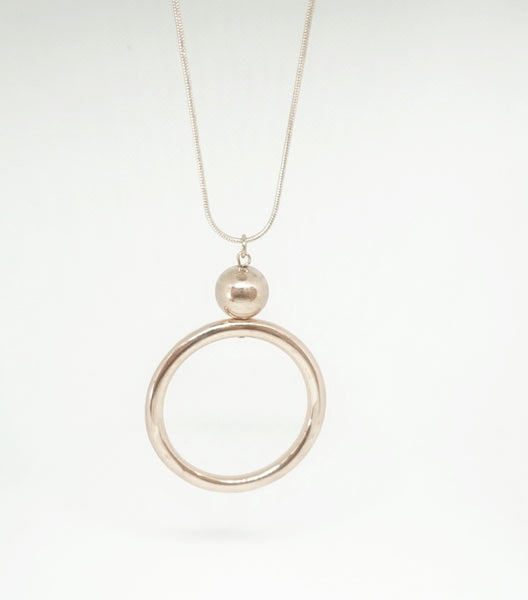 Veronica Rose Gold Circle Necklace