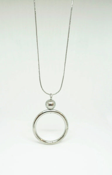 Veronica Silver Circle Necklace