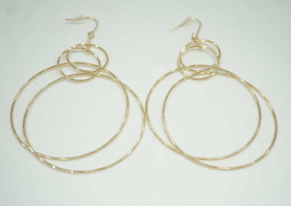 Halo Multi Hoop Gold Earring