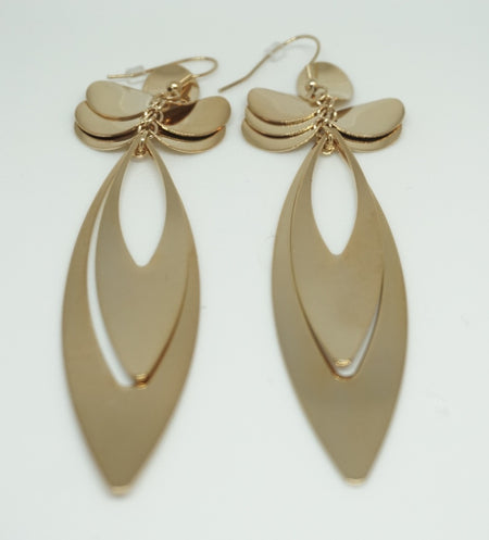 Pale Green Tear Drop Earring
