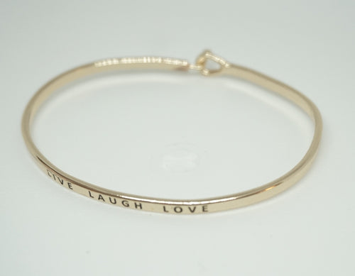 Live Laugh Love Gold Inspiration Bracelet