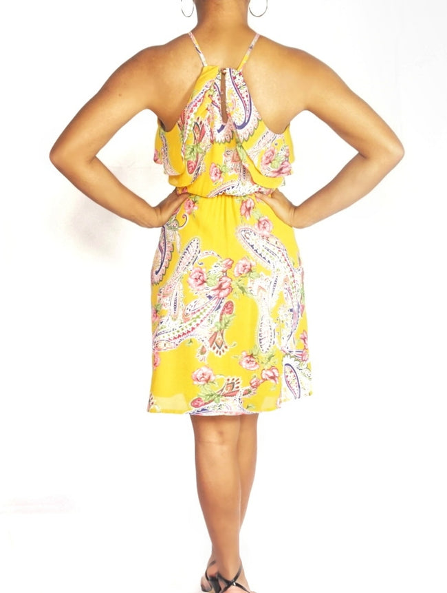 Paisley Yellow Dress