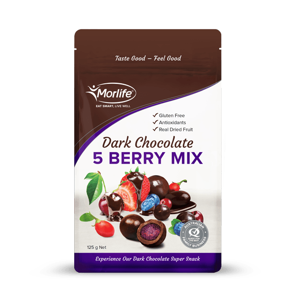 Morlife Dark Chocolate Coated Five Berry Mix - Healthy Me