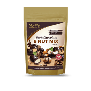 Morlife Dark Chocolate 5 Nut Mix - Healthy Me