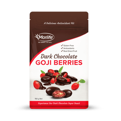 Morlife Dark Chocolate Coated Goji Berries - Healthy Me