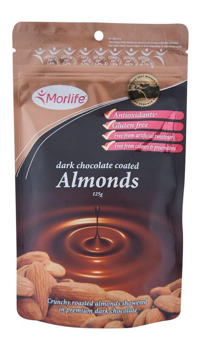 Morlife Dark Chocolate Coated Almonds - Healthy Me