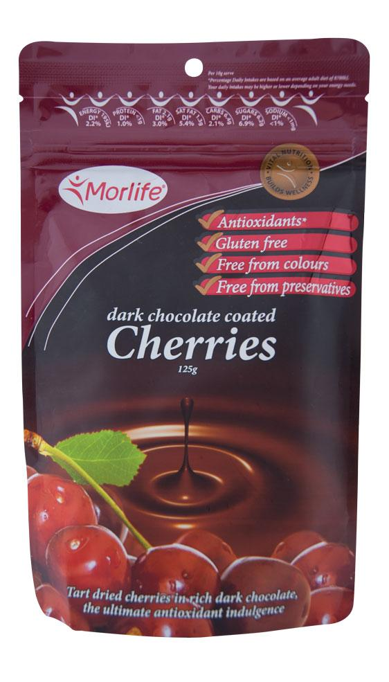 Morlife Dark Chocolate Coated Cherries - Healthy Me