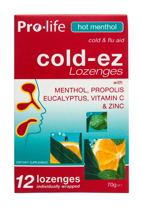 Cold-ez Lozenges - Hot Menthol - Healthy Me
