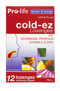 Cold-ez Lozenges - Lemon & Honey - Healthy Me