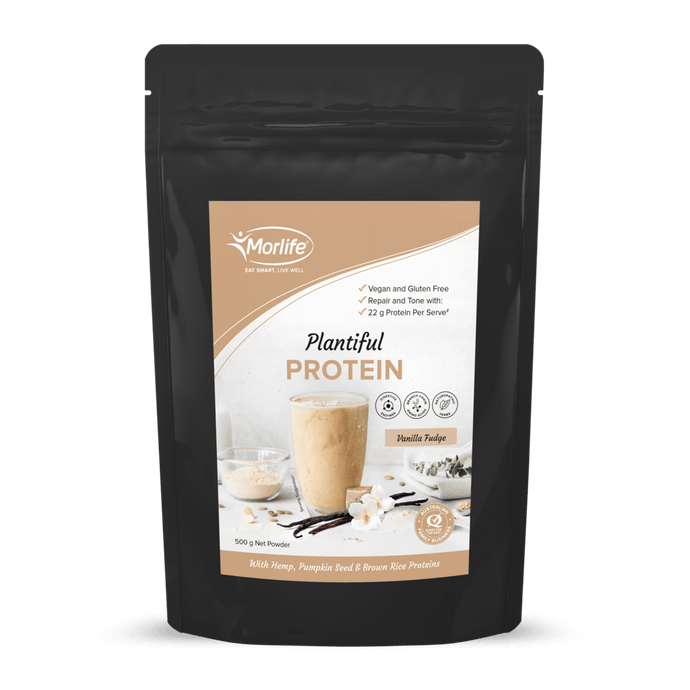 Morlife Vanilla Fudge Plantiful Protein Powder - Healthy Me