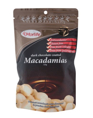 Morlife Dark Chocolate Coated Macadamias - Healthy Me