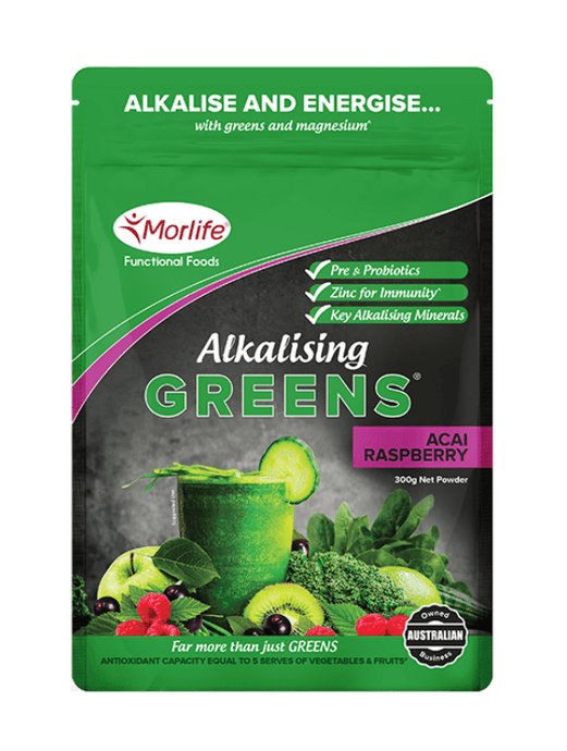 Alkalising Greens Acai Raspberry - Healthy Me