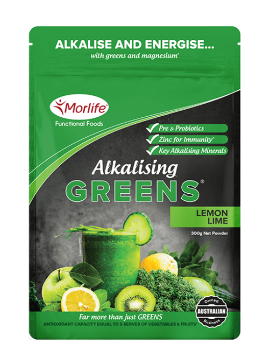 Morlife Alkalising Greens (Lemon-Lime) - Healthy Me