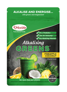 Morlife Alkalising Greens (Pineapple-Coconut) - Healthy Me