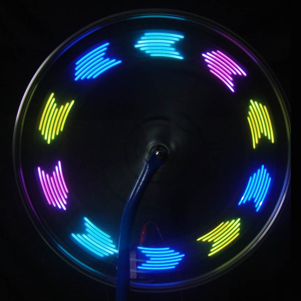 14LED Fashionable 30 Change Pattern Bike Bicycle Wheel Tire Tyre Spoke Light USB Rechargeable Cycling Accessories Drop Shipping