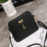 2017 Women Shoulder Bags Fashion Mini Bag With Deer Toy Shell Shape Women Small  Messenger Crossbody Bag Ladies Zipper HandBags