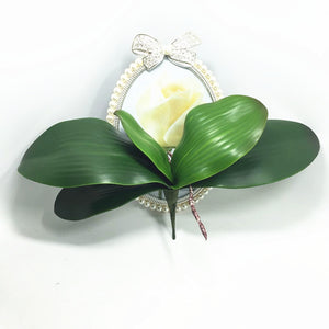 2017 new Artificial flower Orchid leaveshigh quality PU gluing texture leaves DIY potted flower arrangements