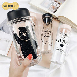 Water Bottle  Kids design Impregnable Plastic  350 ML/500 ML  Fashion Portable Leakproof