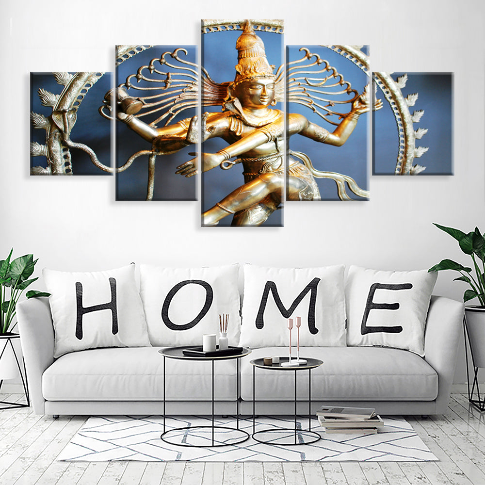 Canvas Painting Wall Art Home Decor For Living Room HD Prints 5 Pieces Poster Pictures Wooden Bar Framed ready to hang