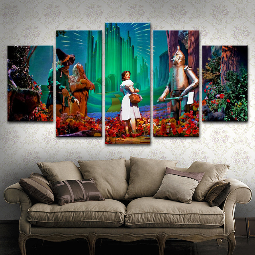 Canvas Wall Art Pictures Living Room Decor HD Prints Poster 5 Pieces Fairy Tales Painting Framework Kid Study BedRoom Decor