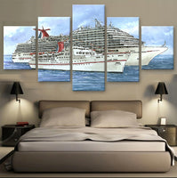 Frame 5 Panel Modern Printed Canvas Oil Painting Cuadros Decoracion Wall Picture For Living Room Unframed Modern Style