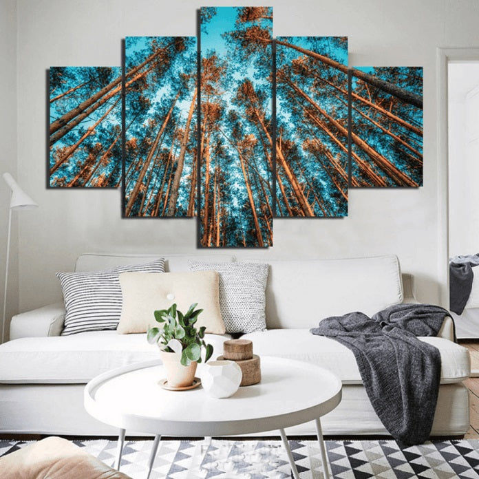 HD print 5pcs Savanna Panther Forest canvas wall art Painting modern home decor living room decor Wall Art picture PT1435