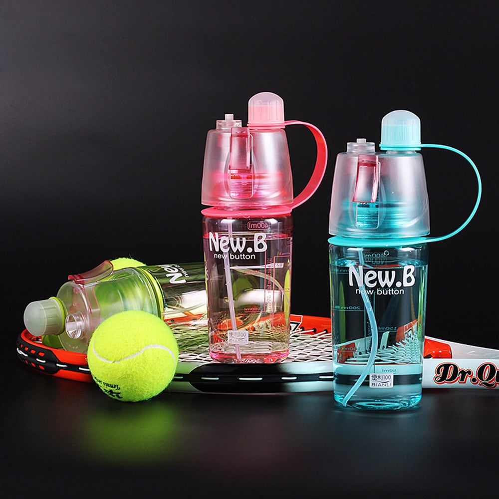 New Creative Spray Water Bottle Portable  Outdoor Sports Gym 400 ML