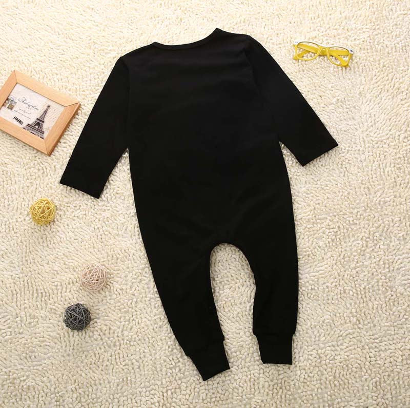 Boss baby boys girls rompers long sleeve boys spring autumn  clothes newborn baby  jumpsuit black 0-24 months