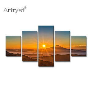 Home Decor 5 Pieces Modular Canvas Art Painting landscape posters and prints HD Print on Canvas wall pictures for living room