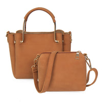 Fashion ladies Composite handbag and Satchel Bag 2 pcs/set