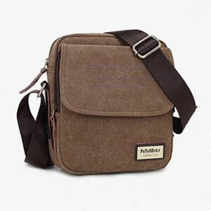 Peterbolo High Quality Vintage Men Bag Canvas Handbag Men Shoulder Bag Small Crossbody Bag