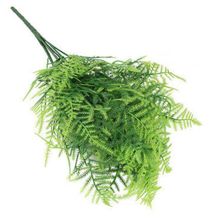 Plastic Green Plants 7 Stems Artificial Asparagus Fern Grass Bushes Flower For Home Office Deor Decorative Plant