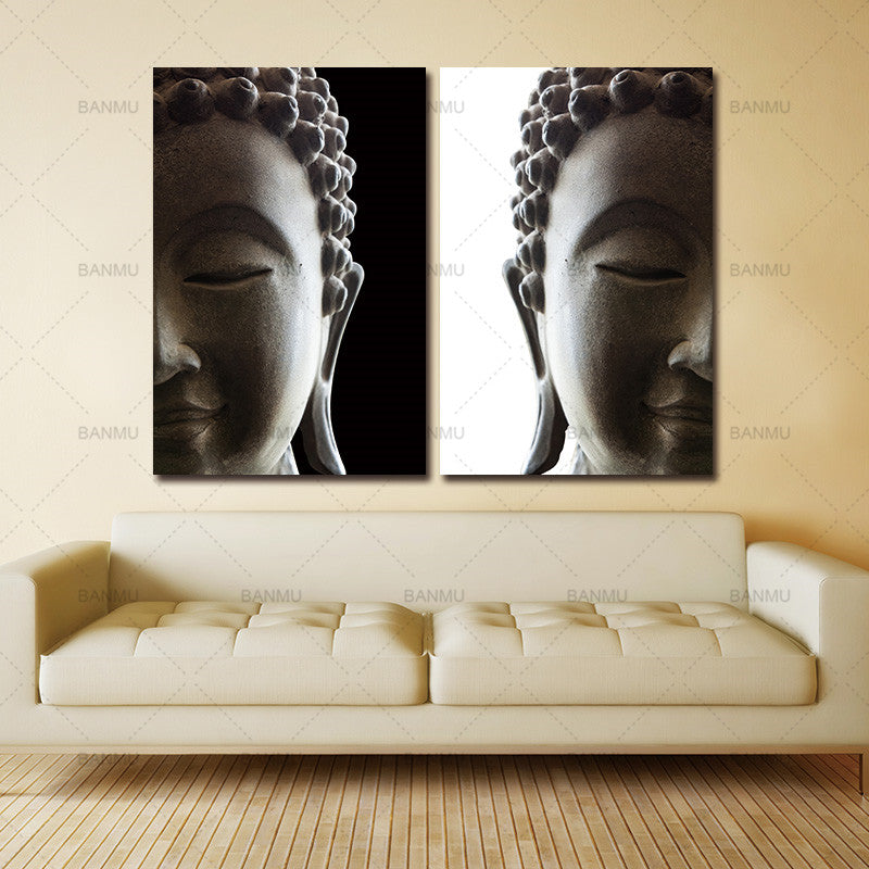 Poster home decor canvas painting wall art print pictutre 2 penel buddha art canvas Picture  Modern living room Decorative